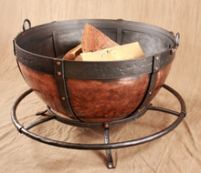 Copper Cauldron Fire Pit