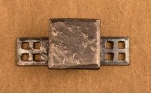 Knob Pull Backplate with Craftsman Grid Detail