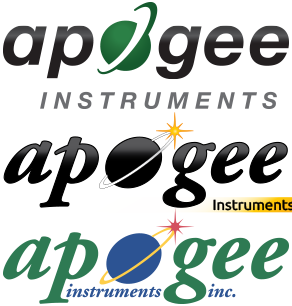 狗万Apogee仪器标志演进