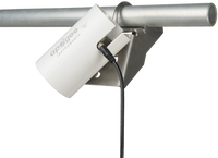 The angle-mounted solar shield mounts to the AS-013 angled field spec mounting bracket. The spectroradiometer mounts to the angled field spec mounting bracket. (Field spec mounting bracket and spectroradiometer not included)
