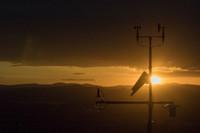 An Apogee TS-100 Aspirated Shield and SP-230 All-Season pyranometer keeping watch high over North Logan, Utah. Photo courtesy of Jobie Carlisle.