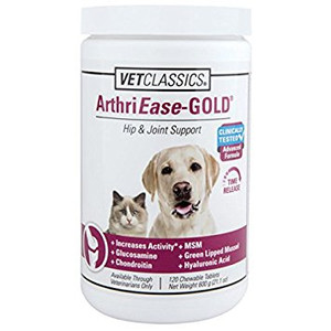 ArthriEase Gold Tablets for Dogs & Cats (120 Count)