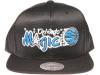 Orlando Magic Logo Mitchell & Ness NBA Black Mesh Snapback Hat