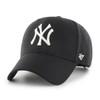 New York Yankees MVP Black Large White Logo 47Brand MLB Snapback Hat