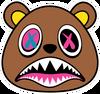 BAWS Bear Red Logo Camo Hoodie