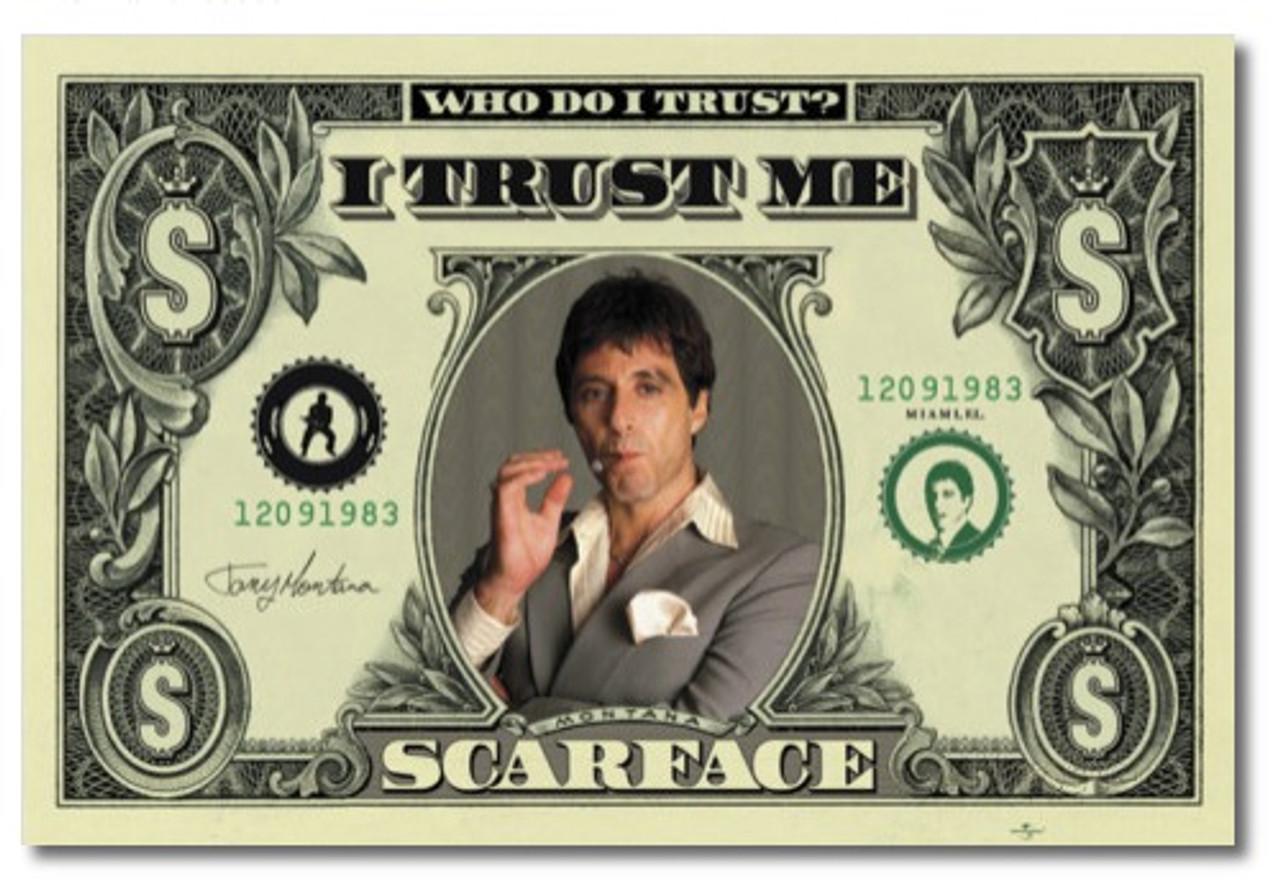 Scarface Tony Montana Money Blockmount Wall Hanger