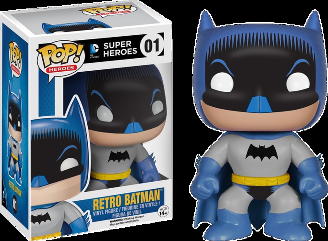 1950 S Retro Comic Hero Batman Pop Heroes Vinyl Figure