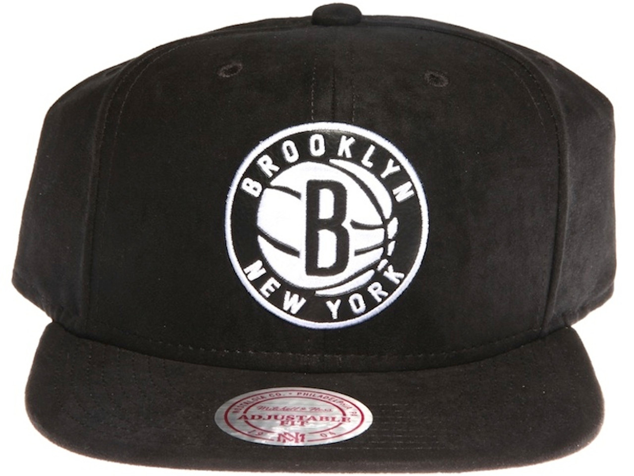 0831765e discount code for brooklyn nets leather logo mitchell ness nba black suede snapback  hat aa49c 6844e