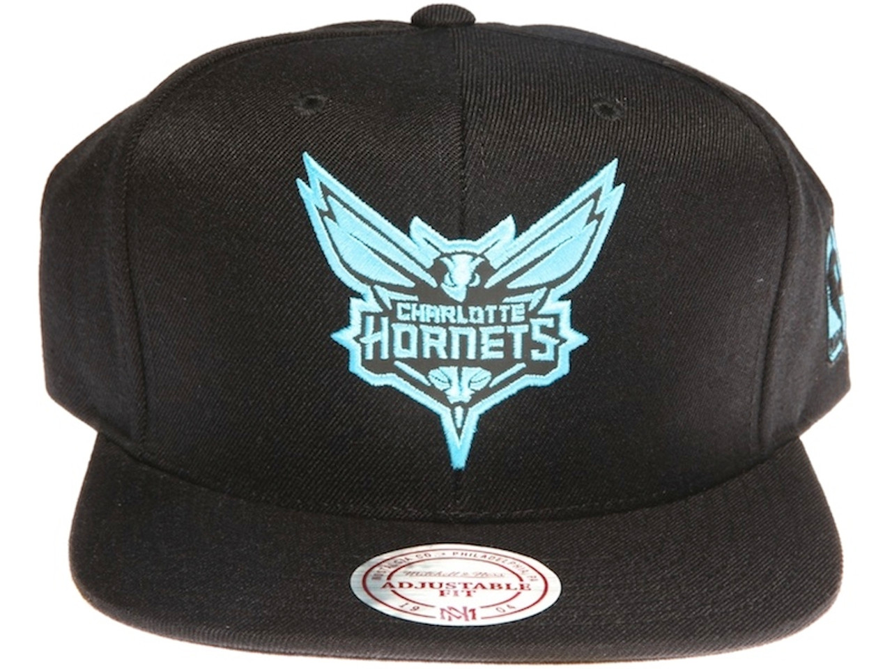 df9b91ba8 ... canada charlotte hornets reflective logo mitchell ness nba black  snapback hat e1c66 deafc