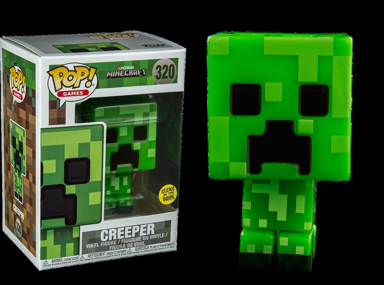 Minecraft Creeper Glow Us Exclusive Pop Vinyl Figure