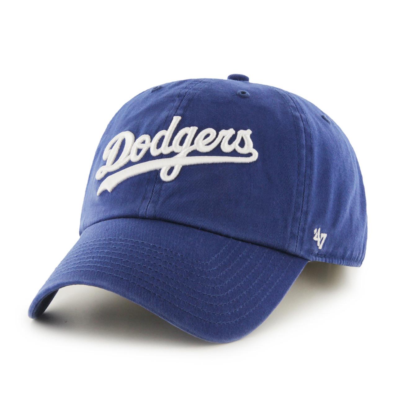 La dodgers script blue 47brand mlb strapback clean up hat buycottarizona Image collections