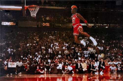 Michael Jordan Foul Line Blockmount Wall Hanger