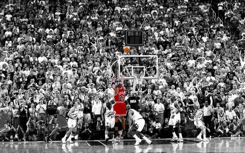 Michael Jordan Shot Blockmount Wall Hanger Picture