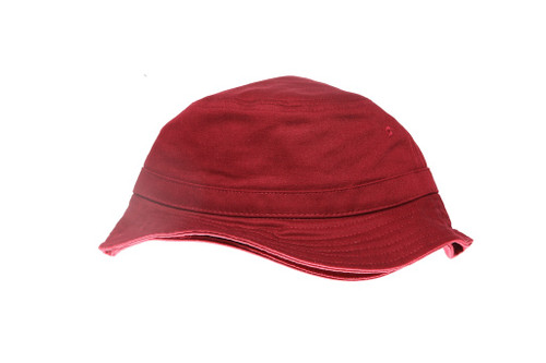 Red Core Blank Unbranded Bucket Hat