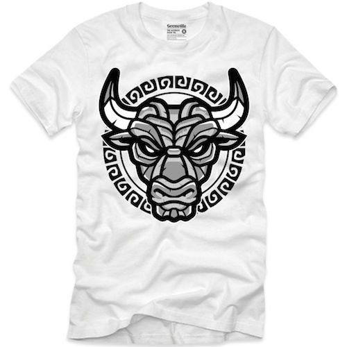 Goonville Black Bull Logo White T-Shirt
