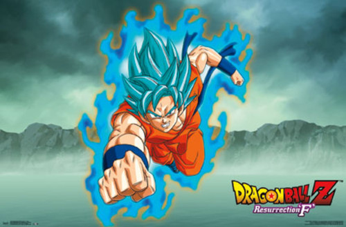 Dragonball Z - Resurrection F Goku - Mounted Wall Hanger Picture
