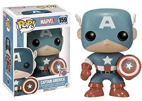 75th Anniversary Sepia Tone Captain America Exclusive Pop Marvel Vinyl Figure