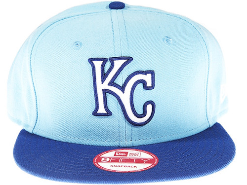 Kanas City Royals Alternate New Era 9FIFTY MLB Light Blue Snapback Hat
