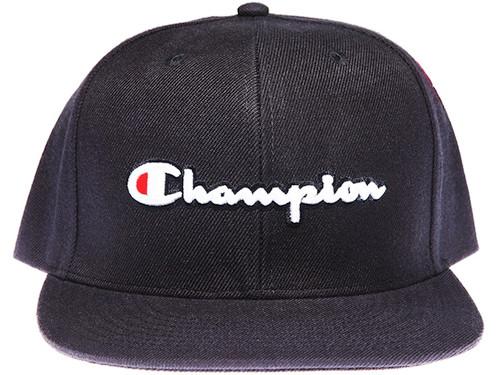 Champion Script Navy Snapback Hat