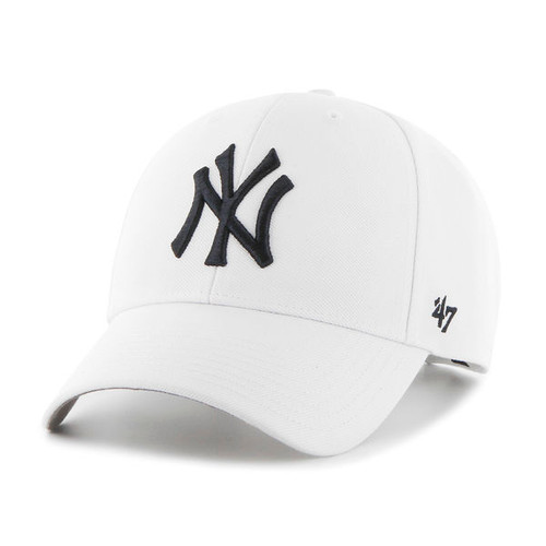New York Yankees MVP White 47Brand MLB Velcro Strapback Hat