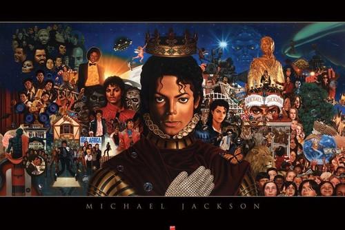 Michael Jackson Blockmount Wall Hanger