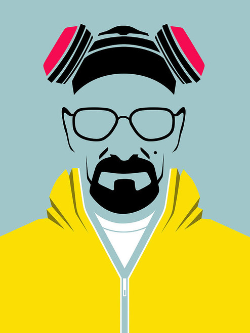 Breaking Bad - Heisenberg Stencil Small Blockmount Wall Hanger
