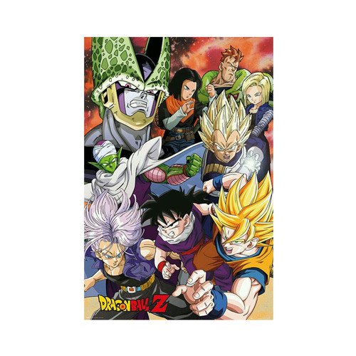 Dragonball Z - Cell Saga - Small Mounted Wall Hanger Picture