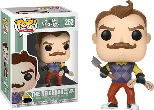 Hello Neighbor - The Neighbor with Axe and Rope Pop! Vinyl Figure