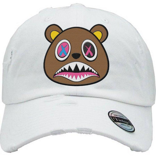 BAWS Bear Logo White Dad Hat