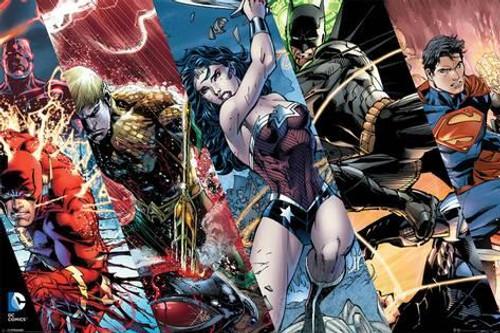 Justice League Heroic Panels Blockmount Wall Hanger
