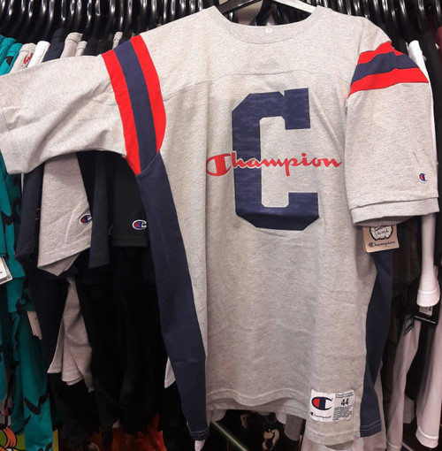 Champion Reverse Weave Heavy Football Grey T-Shirt