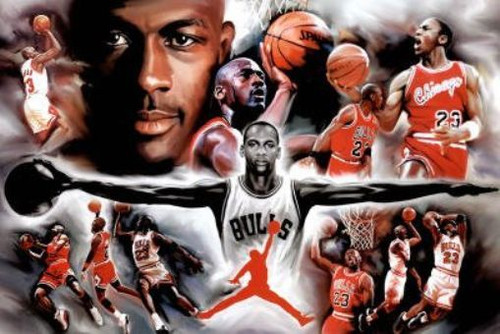Michael Jordan Collage Blockmount Wall Hanger