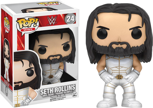 Wwe Seth Rollins White Outfit Us Exclusive Pop Vinyl Figure