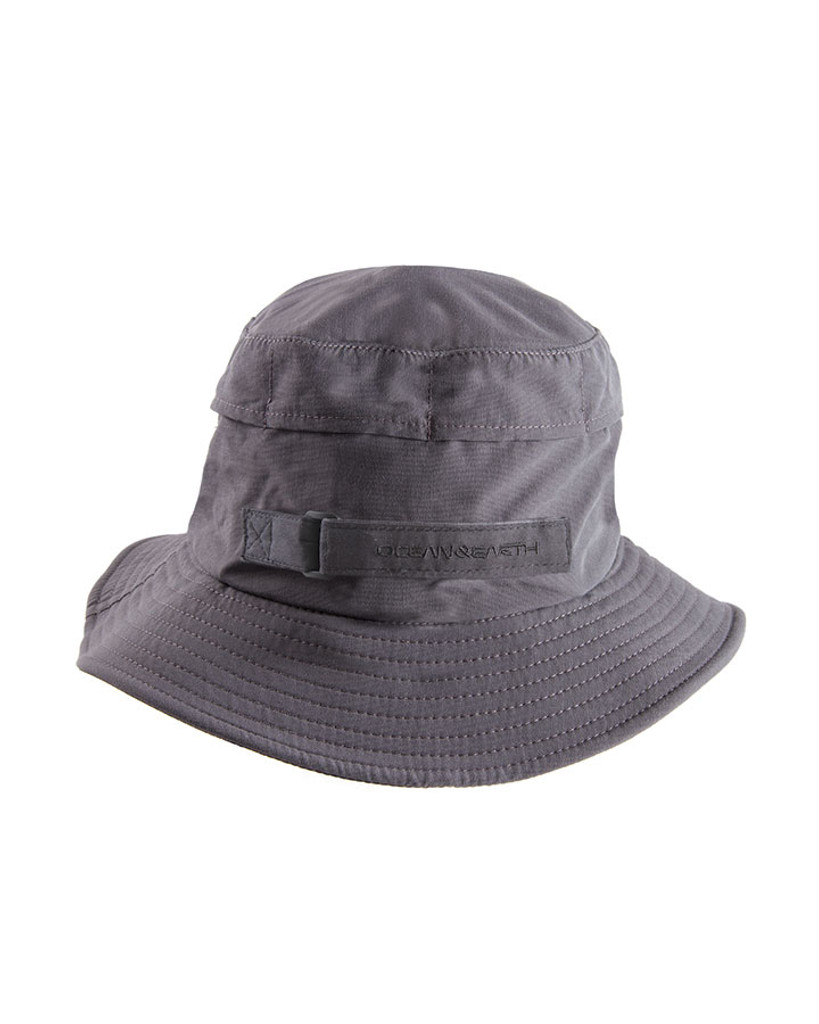 Boys Indo Stiff Peak Surf Hat - Black