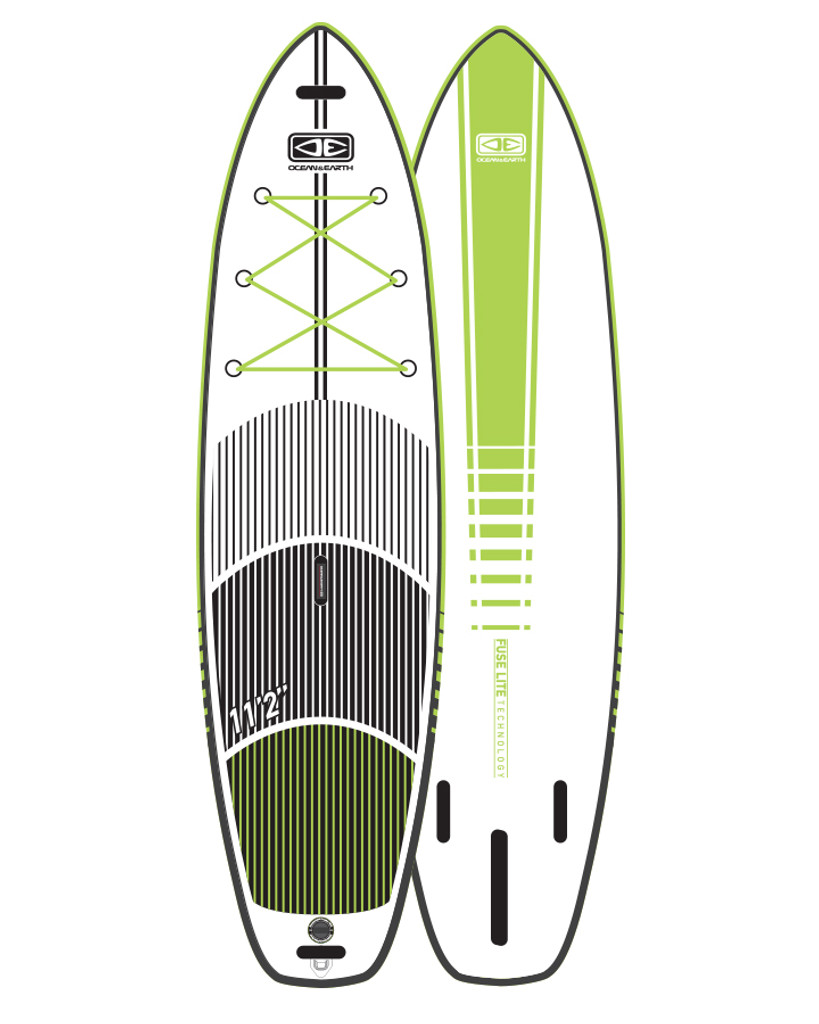 """Fuse-Lite   Flat Water SUP Board -Lime 11'2"""""""