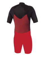 Back inside view of wetsuit showing internal mesh plush lining