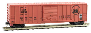 MICRO TRAINS 025 00 960 N 50' RIB SIDE BOX CAR SINGLE DOOR GREEN MOUNTAIN RD#0629