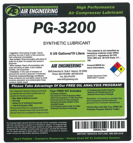 00064-005 -Compressor Lubricant -  PALLUBE 32 - 5 GAL