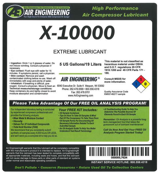X-10000-330 - COMPRESSOR LUBRICANT,HIGH TEMP CONDITION