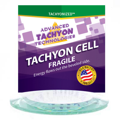 Tachyonized 75mm Clear Beveled Cell - Great for Water Charging