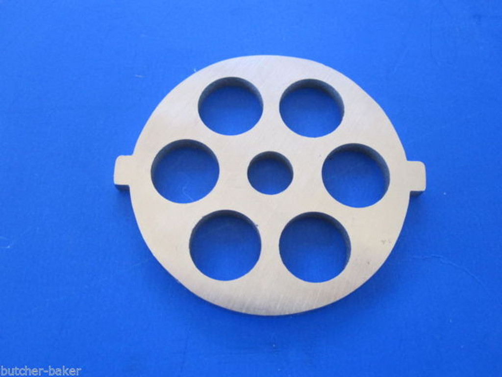 """Meat Grinder plate disc for new FGA KitchenAid Mixer Food Chopper 1/2"""" holes"""