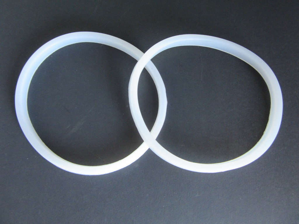 TWO Rubber Gasket Seal for Manual Sausage Stuffer 3 5 7 10 Liter LEM & others