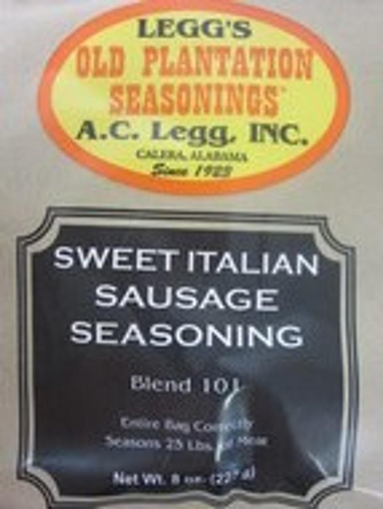 SWEET ITALIAN Sausage Seasoning Recipe for 100 lbs Links or Pan style