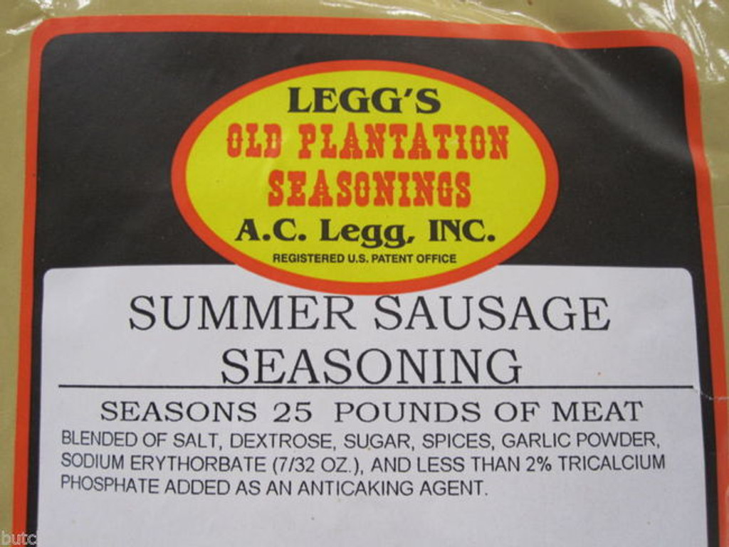 SUMMER SAUSAGE Seasoning AND CASINGS for 100 lbs.  Easy recipe for Venison Elk