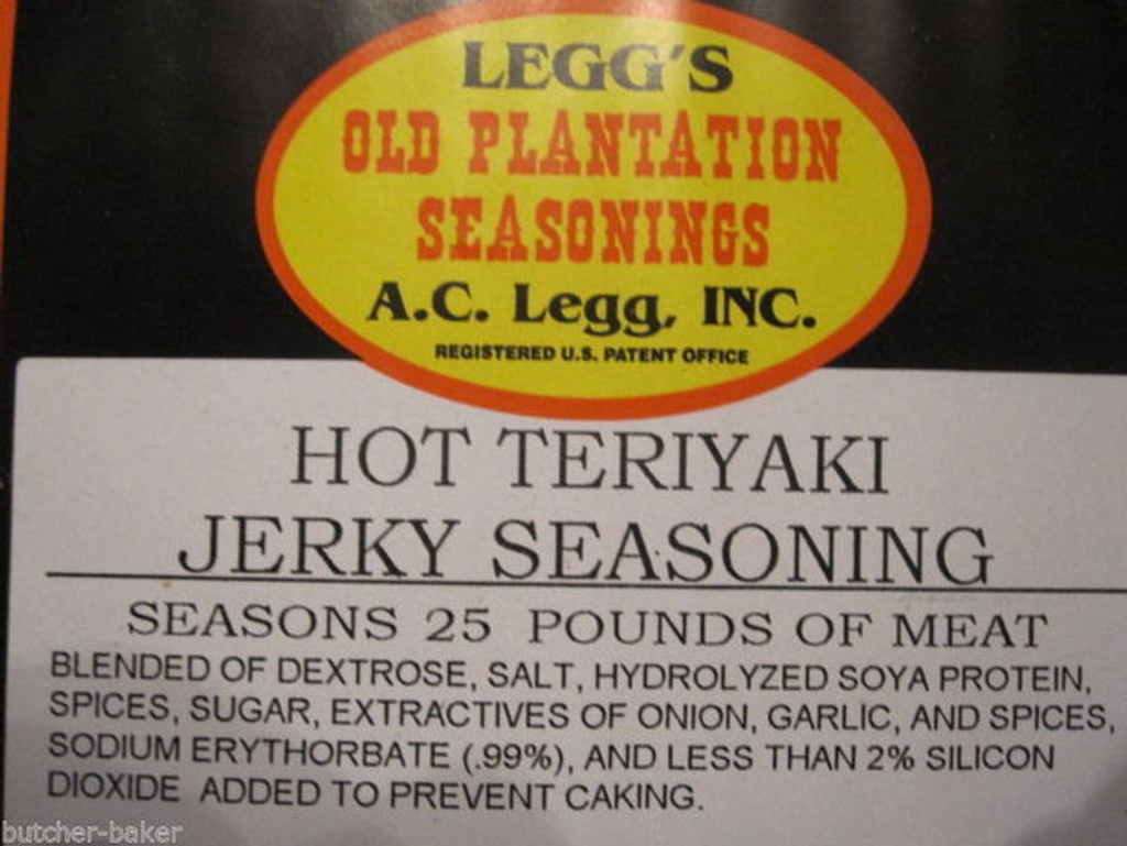 HOT TERIYAKI Jerky Seasoning Spices for 25 LBS of meat Venison Beef Deer w/ CURE