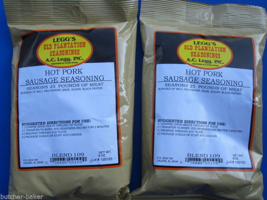 HOT PORK for 50 LBS  BREAKFAST PAN Sausage Seasoning Old Plantation *THE BEST*