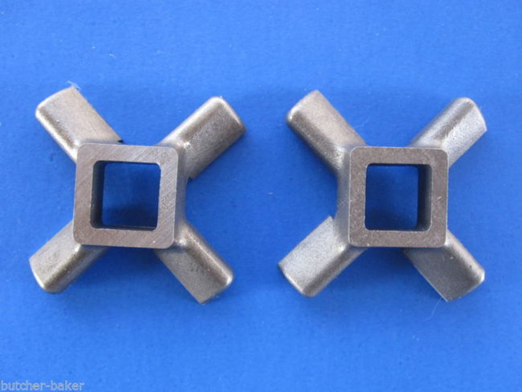 *TWO* Replacement KNIFE for VINTAGE KitchenAid Mixer Metal Meat Grinder Chopper