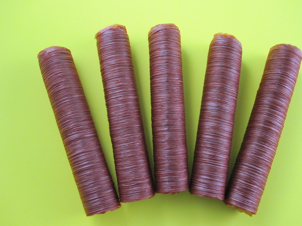 5-Pack 21 mm collagen casings for snack sticks.