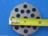 "Meat Grinder plate disc die for electric Waring Pro & Deni w/ 3/16"" BURGER holes"