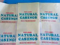 SIX FULL HANKS for 750+ Lbs of  Sausage   NATURAL Hog Casings Pre-Flushed Gut